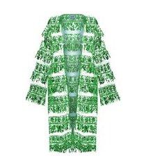 kimono feminino paête - verde