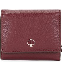 small polly tri-fold leather wallet