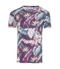 t-shirt masculina m/c - azul