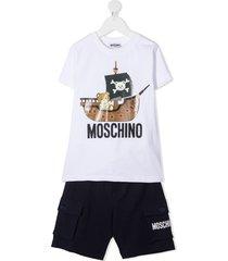 moschino teddy bear jersey suit