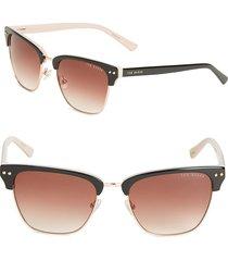 ted baker london women's 52mm logo-etched sunglasses - black