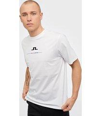 j lindeberg dale-distinct cotton t-shirts & linnen white