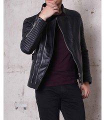 handmade mens biker leather jacket, men fashion rider black leather jacket