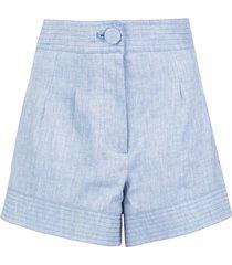 alexis garwen tailored shorts - blue
