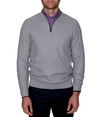 tailorbyrd men's waffle textured quarter-zip sweater