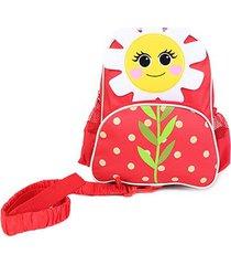 mochila escolar infantil luxcel flor
