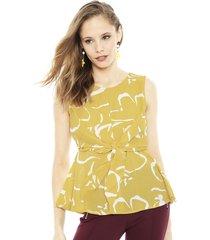 blusa vero moda ilona amarillo - calce holgado
