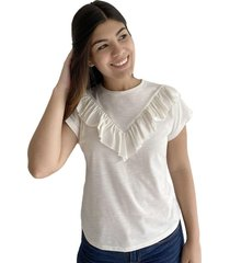 camiseta manga corta con bolero delantero para mujer 100339-00