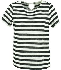 garcia linnen shirt met zilverdraad