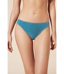 calzedonia federica bikini bottoms woman blue size 4