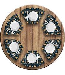 jogo americano love decor para mesa redonda wevans premium natal kit com 6 pçs