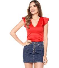 blusa manga bolero rojo mítica