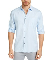 alfani men's solid linen shirt, created for macy's