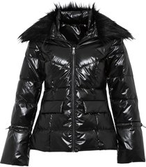 giacca trapuntata lucida (nero) - bodyflirt boutique