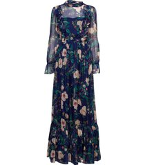 ava dress maxi dress galajurk blauw by malina