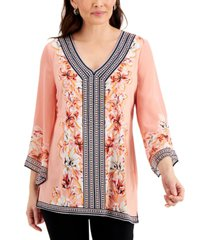 jm collection petite studded tunic, created for macy's