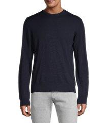 j. lindeberg men's merino wool sweater - black - size s