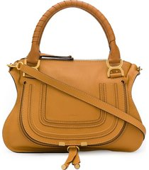 chloé satchel tote bag - brown