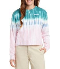 dickies cropped tie-dyed t-shirt