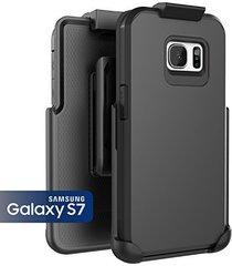 samsung galaxy s7, encased toughshield slim hybrid case & belt clip holster (smo