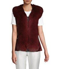 sheared beaver & fox fur vest