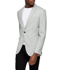 men's topman skinny fit knit sport coat