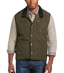 pronto uomo olive modern fit quilted vest