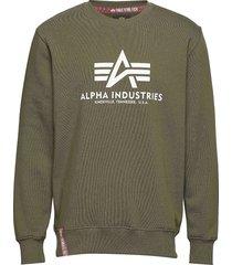basic sweater sweat-shirt tröja grön alpha industries
