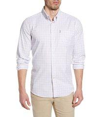 men's barbour batley check button-up performance shirt