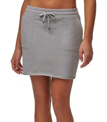 marc new york performance women's off duty french terry raw edge skirt - grey - size l