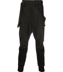 the viridi-anne belted drop-crotch trousers - black