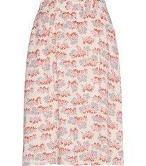 helene skirt knälång kjol multi/mönstrad wood wood