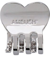 ambush kk heart-shaped hair clip - silver