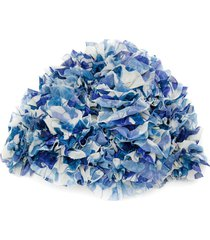 adriana degreas ruffled swim cap - blue