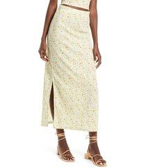 women's vero moda floral maxi skirt, size x-large - green