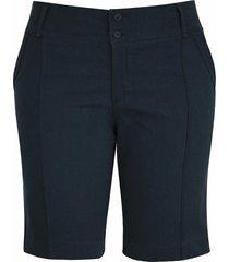 shorts pau a pique básico de sarja azul marinho
