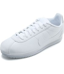 tenis blanco nike classic cortez leather