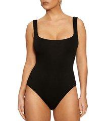 women's naked wardrobe bodysuit, size large - black