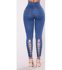 denim azul de talle alto jeans