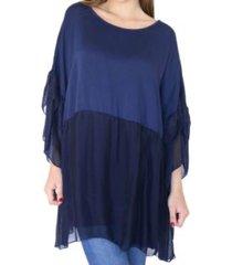 blusa azul almacén de paris
