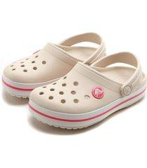 babuche crocs menina perfuros off-white