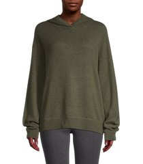 vince women's wool & cashmere hoodie - light olive - size xl