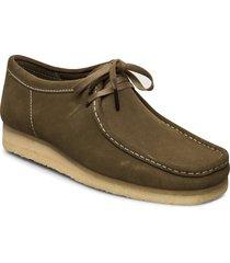 wallabee desert boots snörskor grön clarks originals