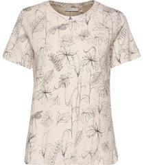 almaiw t-shirt t-shirts & tops short-sleeved creme inwear