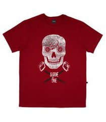 camiseta alkary caveira bmx vermelha