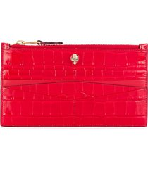 alexander mcqueen flat zip wallet - red