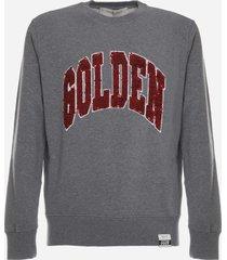 golden goose cotton sweatshirt with sequin logo