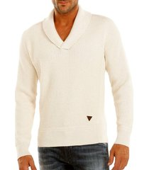 guess - v nck gil sweater limestone heather