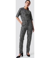 na-kd party structured glittery pants - grey