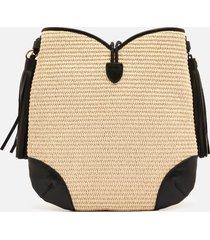 isabel marant women's tyag shoulder bag - natural/black